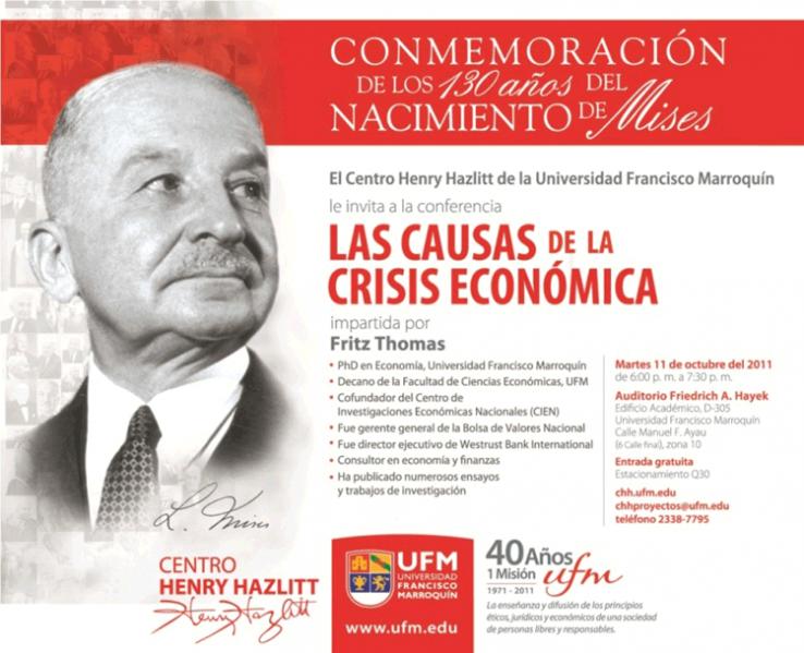 Conferencia: Las causas de la crisis económica, por Fritz Thomas